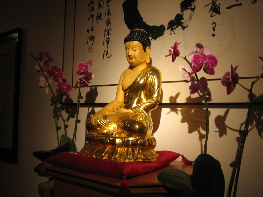 Altar at the Chogye International Zen Center of New York